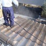 屋根水洗い2