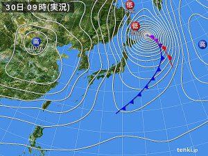 天気図 10月30日