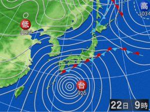 10月22日の天気図
