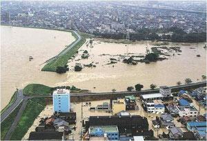 河川堤防決壊